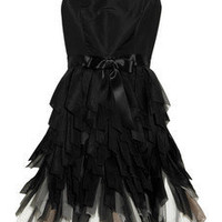 Oscar de la Renta | Fringed-skirt silk-taffeta dress | NET-A-PORTER.COM