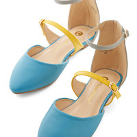 ModCloth Colorblocking Sunny Honey Flat