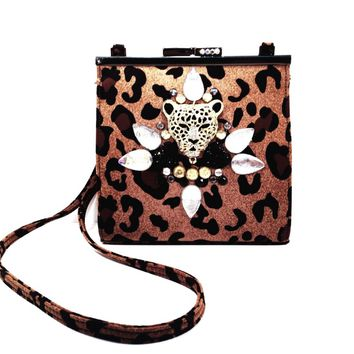 Ay Girl Leopard Mini Purse