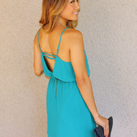 'Capri' Deep V-Back Dress