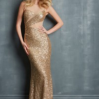 Night Moves 7063 Sparkly Illusion Evening Gown