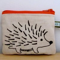 Hedgehog Change Purse by HappyFantastic on Etsy