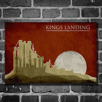 Game of Thrones poster movie poster minimalist print by Harshness