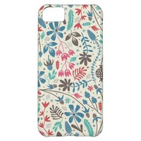 Modern Garden Floral Pattern iPhone 5C Case