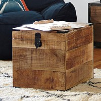Weathered Wood Square Trunk