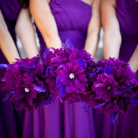 Purple Feather Bridesmaids Bouquet by LaPlumeEthere on Etsy