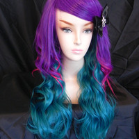 20 OFF SALE Neon Mermaid / Purple Hot Pink and Teal / by ExandOh