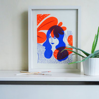 Plants – Neon Orange & Blue