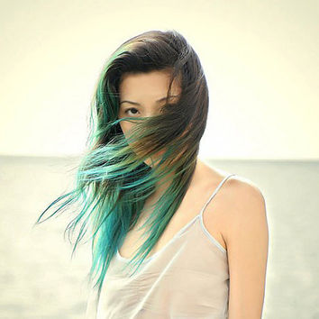 Dip Dye OMBRE Hair Extensions // ANY COLOR // by WarriorsOfCulture