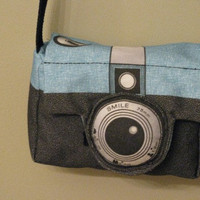 Retro Style Camera Bag or Purse by AijoEcoTotes on Etsy