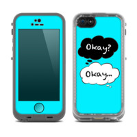 The Okay Speech Bubbles On Turquoise Skin for the Apple iPhone 5c LifeProof Case