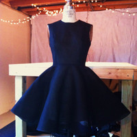 Vintage 1950's Inspired Black Dress by kellyking89 on Etsy