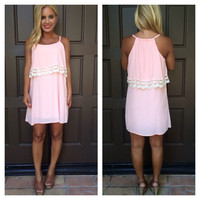 Summer Blossom Flutter Dress - PINK