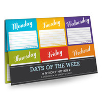 Days of the Week Sticky Note Packets by Knock Knock