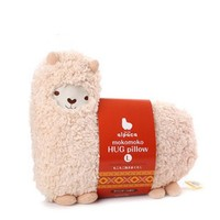 Bolster Toy Aunt Merry Mokomoko Llama Alpaca Hug Pillow Cushion Doll (1 per pack, Beige)