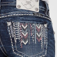 Miss Me Embroidered Ankle Skinny Stretch Jean