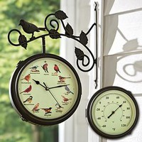 Singing Bird Clock & Thermometer @ Fresh Finds