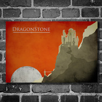 Game of Thrones poster movie print minimalist poster by Harshness
