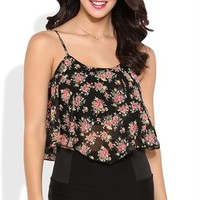 Flowy Floral Crop Top