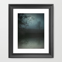 Song of the Nightbird Framed Art Print by Monika Strigel | Society6