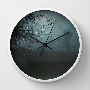 Song of the Nightbird Wall Clock by Monika Strigel | Society6