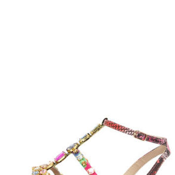 Steve Madden Bjeweled Bright Multi Rhinestone Sandals