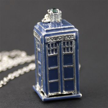 Doctor Who 3D Tardis Necklace - Spiffing Jewelry