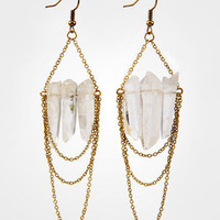 FredFlare.com - Crystal Chain Earrings - Shop All Jewelry