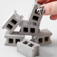 FredFlare.com - Concrete Block Magnet Set - Set Of 6 Magnets