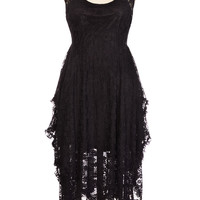 Gothic Glamour Layered Lace Dress