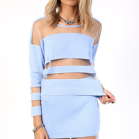 Shimmer Two Piece Set Blue