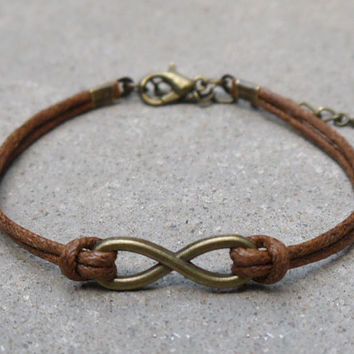 Infinity bracelet, love bracelet, wax rope bracelets, friendship, gifts, Christmas gifts