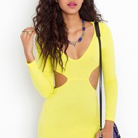 Neon Cutout Dress in  Sale Dresses at Nasty Gal