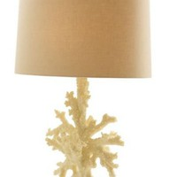 Boca Coral Acrylic Glass Table Lamp Arteriors Home Shell Nautical Beach House Ocean Decor Slick Modern Silver Tall Accessory