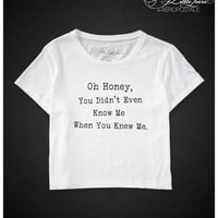 Pretty Little Liars Oh Honey Boxy Crop Graphic T -