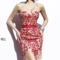 Strapless Sweetheart Dress by Sherri Hill