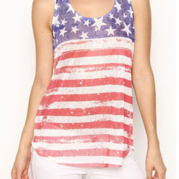 American Flag Sublimation Tank