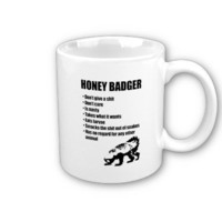 Honey Badger Bullet List Coffee Mug from Zazzle.com