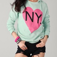 Wildfox Bicoastal Girl Sweatshirt | SHOPBOP