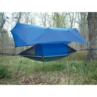 Crazy Crib LEX with Tarp, Gray / Royal Blue - 91430, Hammocks at Sportsman's Guide