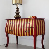 calidora striped red french chest by out there interiors | notonthehighstreet.com
