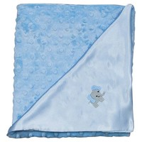 Snuggle Elephant Blanket, Blue, Baby Blankets