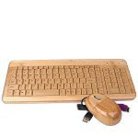 USB Keyboard & Optical Mouse Kit (Solid Wood Design)