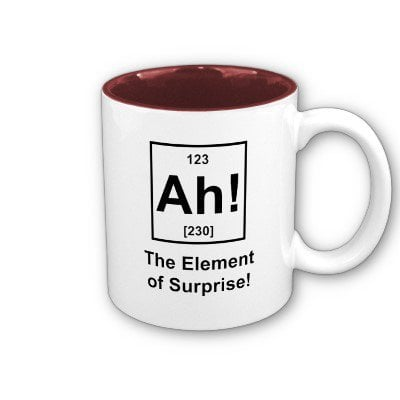 Ah! The Element of Surprise Coffee Mugs from Zazzle.com
