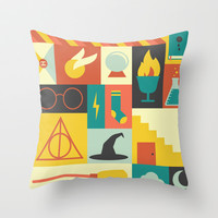 Harry Potter Throw Pillow by Ariel Wilson | Society6