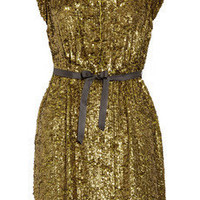 J.Crew | Sequined silk-crepe dress  | NET-A-PORTER.COM