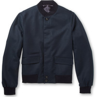 Alexander McQueen - Wool-Twill Lightweight Bomber Jacket | MR PORTER