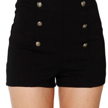 Papaya Clothing Online :: HIGH WAIST THREE-BUTTONED SHORTS