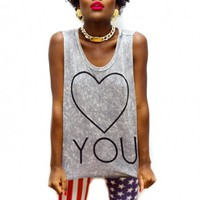 B2 – LOVE YOU – OVERSIZED TANK