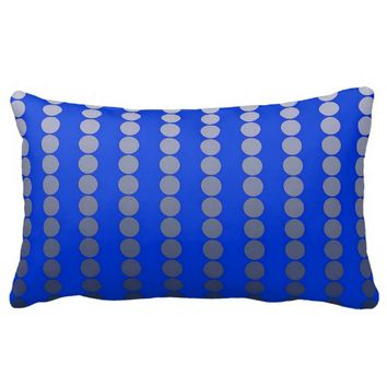 Satin dots - cobalt blue and pewter